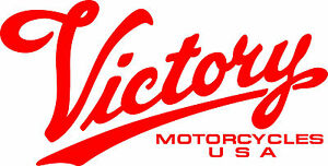 RED VICTORY MOTORCYCLES USA DIE CUT DECAL