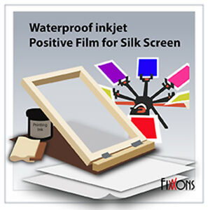 waterproof inkjet silk screen printing film 8 5 x 14 200 sheets