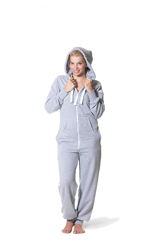 Jumpster Ladies- Men's Jumpsuit Regular Fit Grey Hood