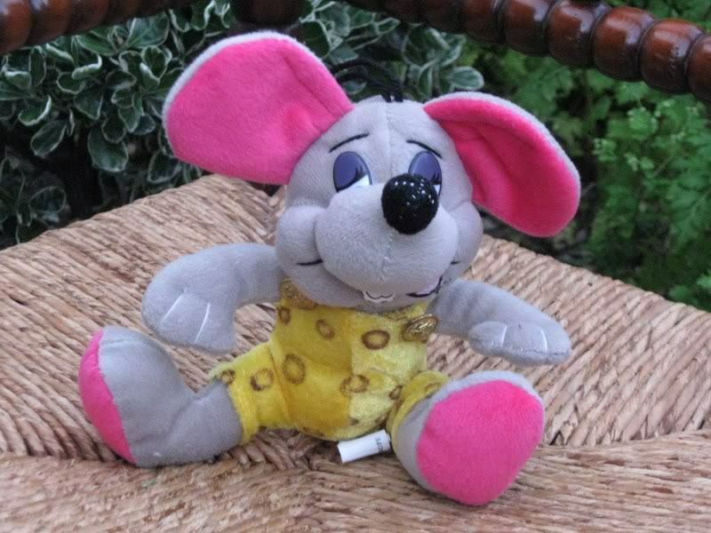 Beren Toys Holland grau Mouse Stuffed Animal Plush 7 Inch 1970s