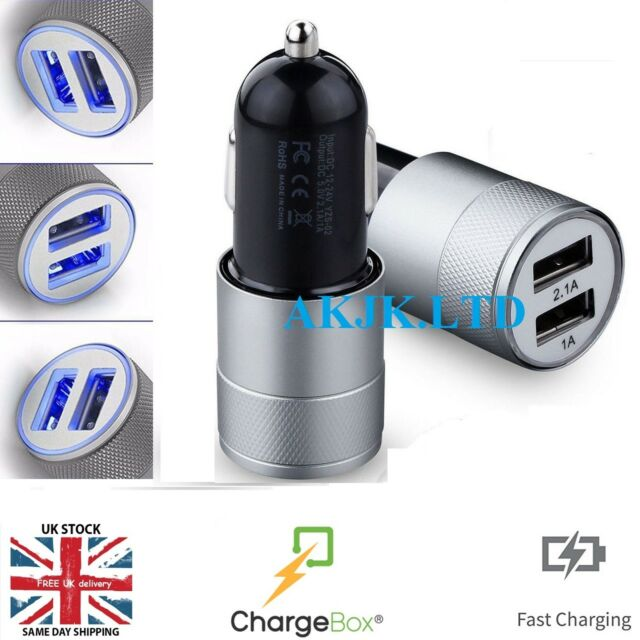 UNIVERSAL USB In Car Charger 12V-24V For High Speed Smart Phone  Led for Iphone