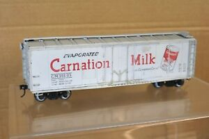 POLA-MAXI-O-SCALE-KIT-BUILT-CARNATION-MILK-REFER-BOXCAR-WAGON-CM-25003-nn