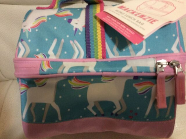 Pottery Barn Kids Mackenzie Retro Lunch Bag Aqua Pink