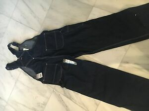 44 x 32 Dickies denim bib overalls dark denim Brand New!!!