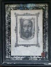 VERA EFFIGIES SACRI VULTUS DOMINI NOSTRI serigrafia su tela cm  15.5 x 19.5