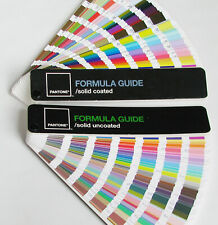 Set Of 2 Pantone Formula Guide Color Swatch Books Solid Coated Solid Uncoated