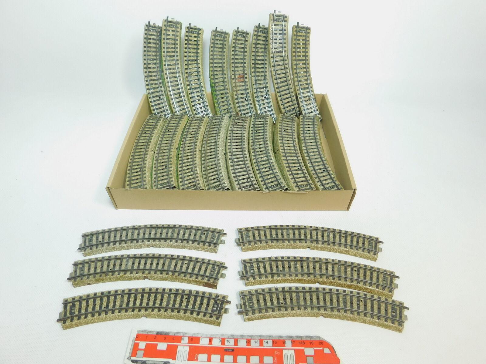 Bl809-3  47x   h0/ac 5100 pezzo di binario/ferrovia piegate M-Binario