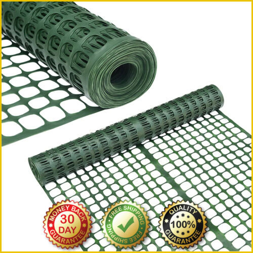 ABBA PATIO SNOW FENCE Plastic Safety Fence Roll Temporary Poultry 4 X 100 Feet