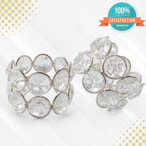 Crystal Napkin Rings for Dining Table Decorations Holidays Special Occasions