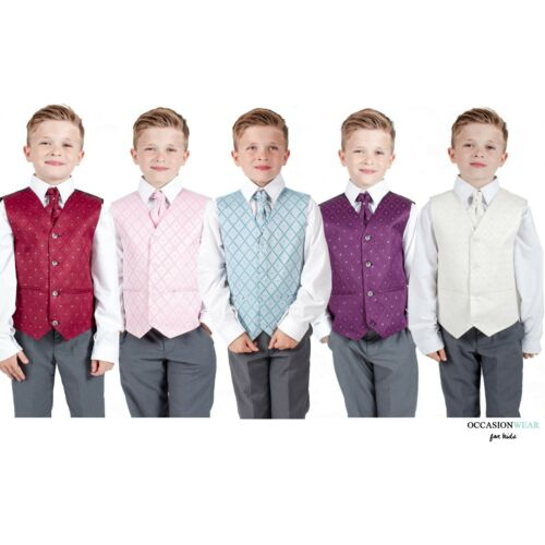 Boys Suits Waistcoat Suit Wedding Pageboy party outfit grey Baby Suit 5 Colours
