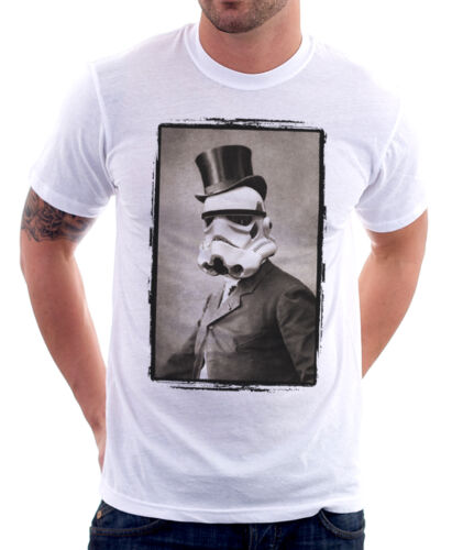 Sir StormTrooper Portrait Darth Vader funny white t-shirt 9771