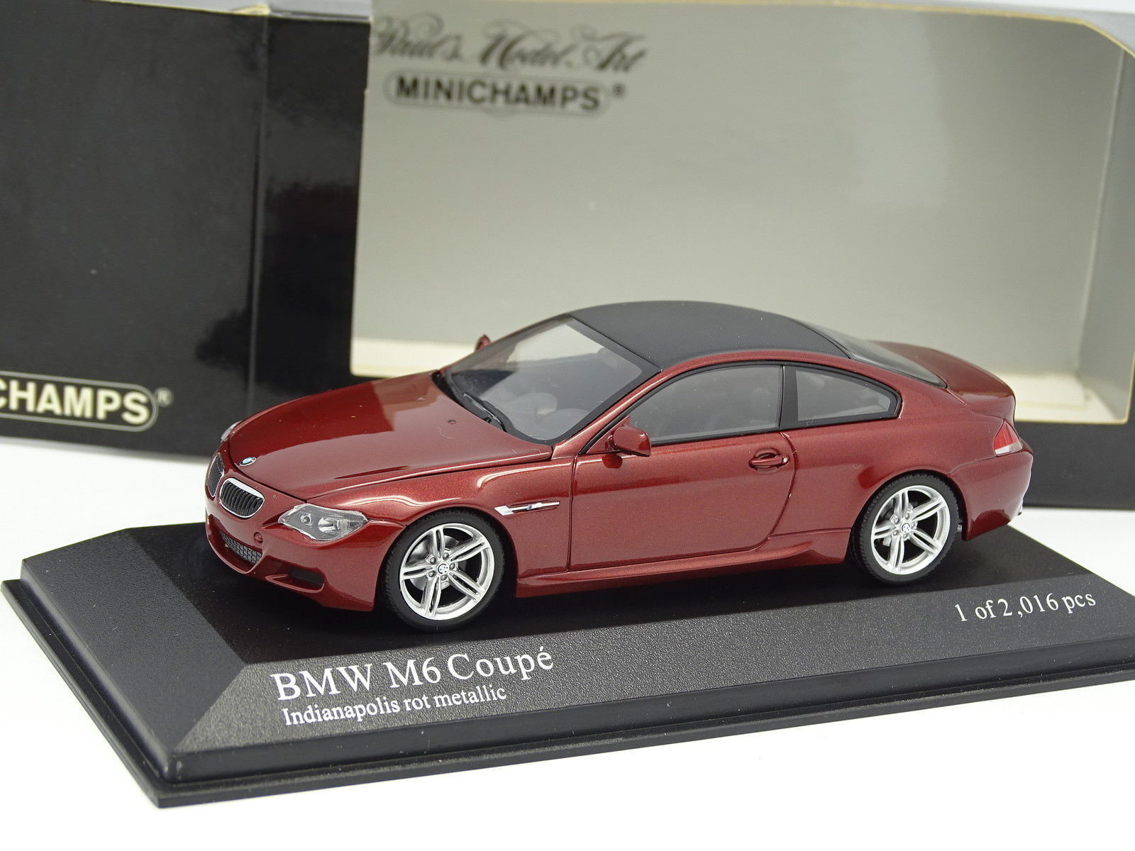 Minichamps 1 43 - BMW M6 red red red 6a986a