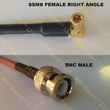 USA-CA RG316 DS SSMB ANGLE FEMALE to BNC MALE Coaxial RF Pigtail Cable