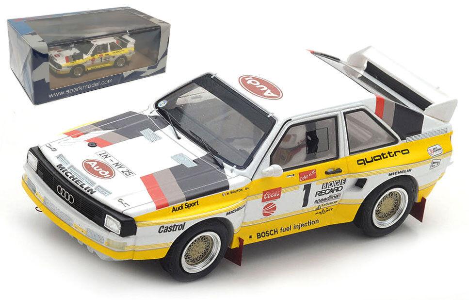 comprar descuentos Spark Spark Spark 43PP85 Audi Quattro S1 Winner Pikes Peak 1985 - Michèle Mouton 1 43 Scale  venta con alto descuento
