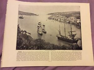 Antique-Book-Print-Fowey-OR-Deal-UK-c-1895