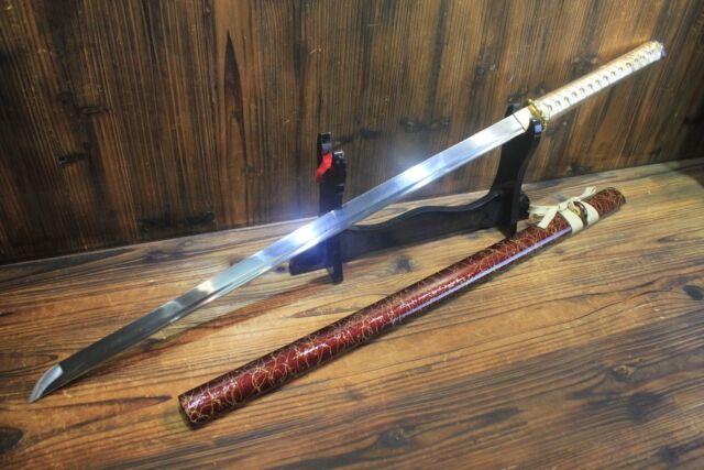 Japanese Hand Forged Golden Bamboo Ninjato Shirasaya Sword Full Tang