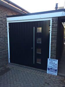 Image Is Loading Composite Designer Insulated Side Hinged Garage Door Steel