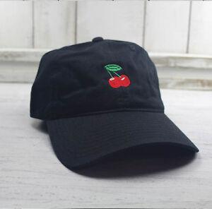 2559cc0c4 Cherries Emoji Baseball Cap Curved Bill Dad Hat 100% Cotton Wild ...