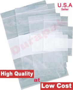 "Clear 9/"" x 12/"" Reclosable Ziplock 4Mil Heavy Duty Zip Top Polybags Plastic 10pcs"