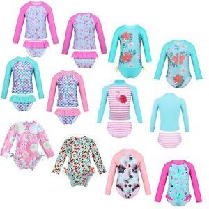 Kids-Girls-Swimsuit-Swimwear-Rash-Guard-UV-Protection-Beachwear-Surfing-Suit