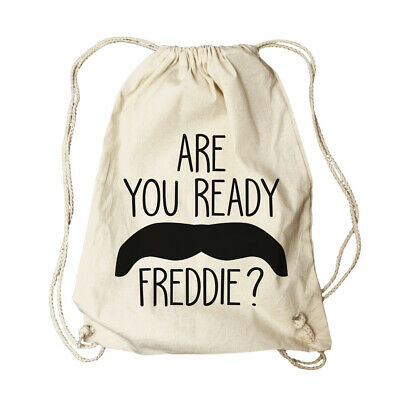 Hart Arbeitend Queen - Freddie Mercury Ready Tasche Gym Bag Rucksack Turnbeutel