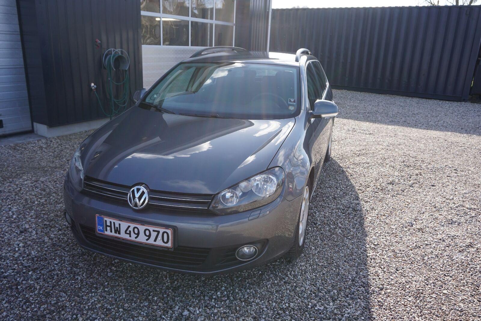 VW Golf VI 1,6 TDi 105 Comfortl. Variant BMT 5d - 65.000 kr.