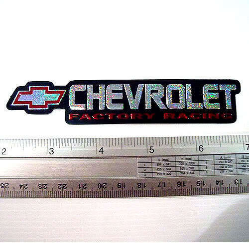 "Cheverolet Car Reflective Sticker Decals Emblem Red 1x5/"""