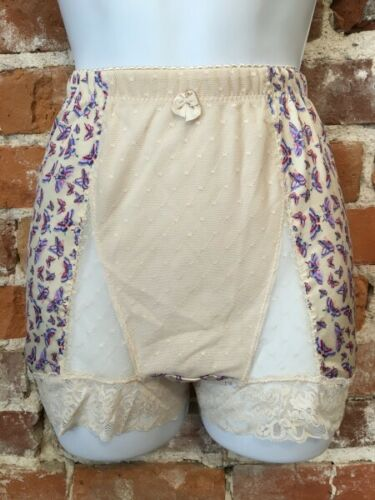 Rhonda Shear Butterfly Mesh Dot Pin-Up Retro High Waist Panties New