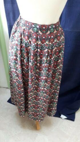 Size 16 Liberty print Jubilee Skirt 82/% cotton /& 18/% Wool ID45 Multicoloured