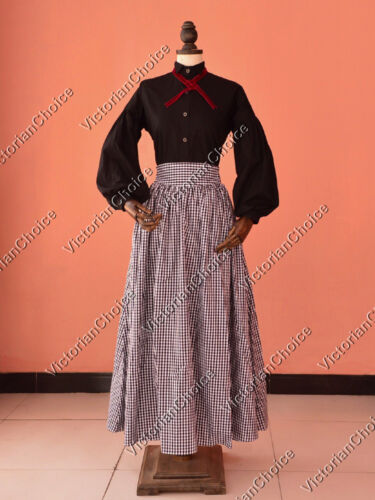 Edwardian Costumes – Cheap Halloween Costumes    Victorian Edwardian Frontier Dress Reenactment Theater Women Costume 314 $79.00 AT vintagedancer.com