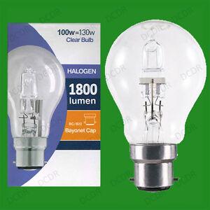 GLS Light Bulbs 28w 42w 70w 100w Halogen Globe Edison Screw Cap Bayonet Lamp Eco