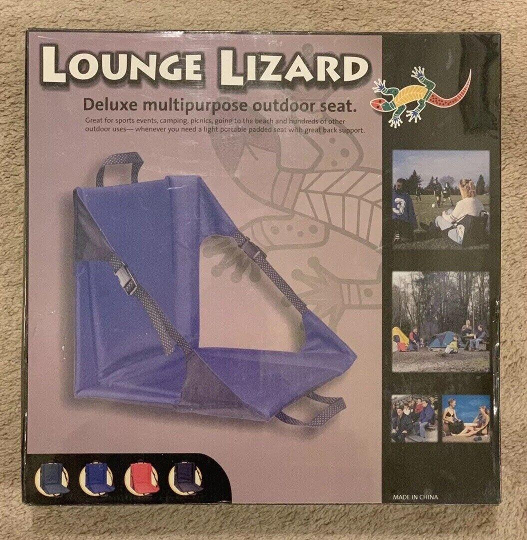 Lounge Lizard Stadium Seat (Deluxe Multi-Purpose Outdoor Seat) bluee