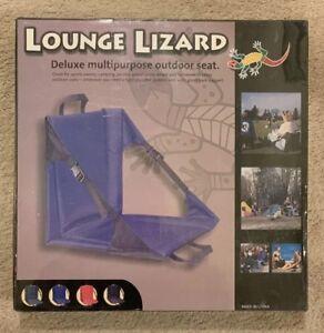 Fabulous Details About Lounge Lizard Stadium Seat Deluxe Multi Purpose Outdoor Seat Blue Customarchery Wood Chair Design Ideas Customarcherynet