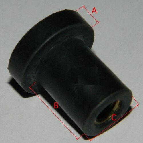 Verkleidung Cagiva 10 Blindnietmutter M6 Gummimutter f