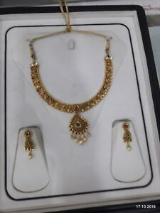 22kt Gold Jewelry Vintage Antique Gold Necklace Gold Necklace Gold