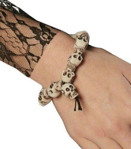 RUB 6290807 Halloween Armband Schädel Knochen Totenkopf Voodoo Zubehör Schmuck