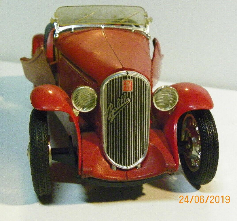 Modellino Fiat 508 III Spider Sport del 1936, AUTO D'EPOCA in buone condizioni