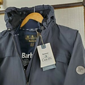 NWT-BARBOUR-269-Womens-Large-Marloes-Full-Zip-Hooded-Navy-Casual-Jacket-Coat