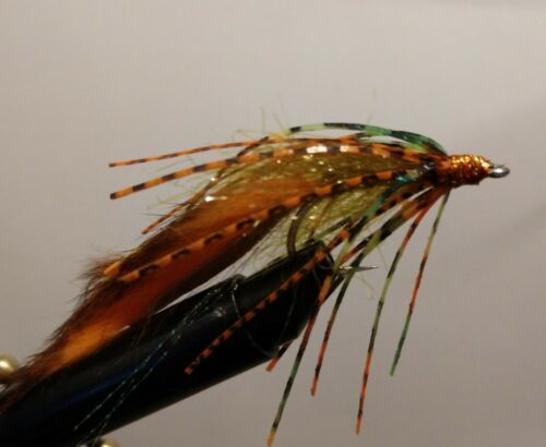 Bass Crawler **NEW** Fire-Tiger Size 1//0 Sold per 3 Brown- Olive,HOT ITEM!
