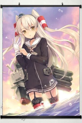 Anime kantai collection amatsukaze Poster Wall Home Scroll Decor Gift 60*90cm