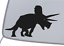 TRICERATOPS Vinyl Decal Sticker Car Window Wall Bumper Three-Horn Dinosaur Cool