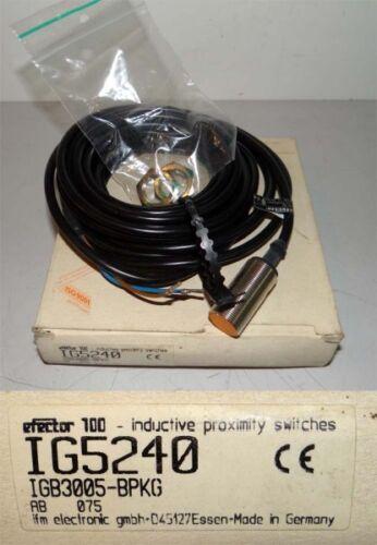 IFM efector 100 IG5240  IGB3005-BPKG unused//OVP