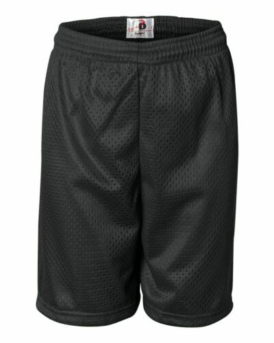 Badger Youth 6/'/' Inseam Pro Mesh Gym Shorts Boys Girls Basketball S-L 2207