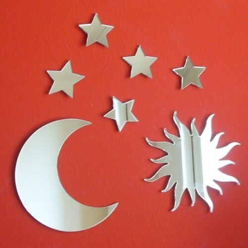 Moon /& 5 étoiles Bundle Acrylique Miroirs Sun
