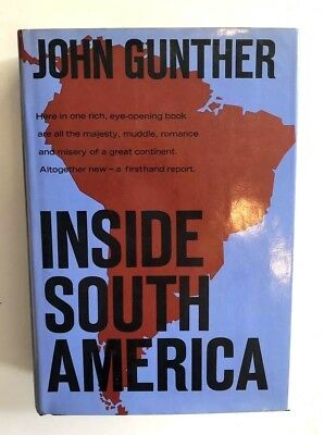 INSIDE SOUTH AMERICA John Gunther 1st Ed SIGNED HC DJ 1stEdCircle Bookmark  | eBay