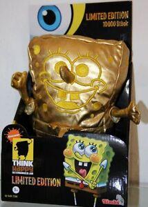 Simba-Goldener-Spongebob-Schwammkopf-Gold-Limited-Edition-ca-28cm-Pluesch-Figur