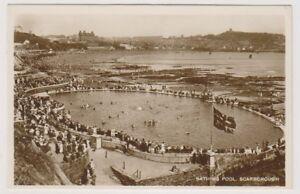 Yorkshire-Norte-Tarjeta-Postal-Bathing-Piscina-Scarborough-Rosa-u-1926