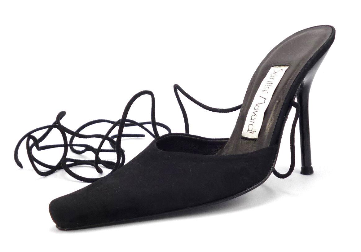 SANTINI mavardi Nouveau Chaussures Femmes Taille 36, 6 US Olivia Daim Bride Escarpins Noir