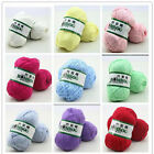 Fingering Durable Natural Smooth Woolen Cotton Bamboo Knitting Yarn Lot Color o6