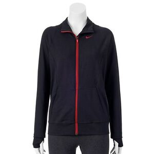 new nike women knit full zip up dri fit running jacket. Black Bedroom Furniture Sets. Home Design Ideas